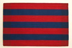 "Cornelia Theimer Gardella (USA), ""Untitled #2 (Red, Blue)"" 26.5"" x 40"" woven tapestry, ATB 10"
