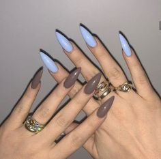 Маникюр - Care - Skin care , beauty ideas and skin care tips Edgy Nails, Aycrlic Nails, Grunge Nails, Stylish Nails, Trendy Nails, Hair And Nails, Manicure, Coffin Nails, Simple Acrylic Nails