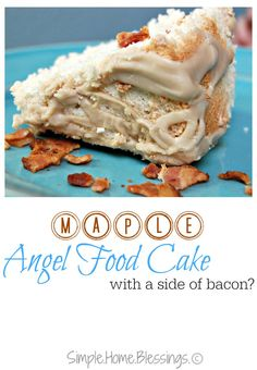 Maple Angel Food Cak