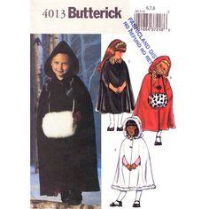 Girls Cape Pattern Butterick 4013 Long by finickypatternshop