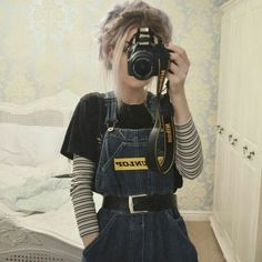 My favorites favorites grungefashion my mode Mode Outfits, Grunge Outfits, Fall Outfits, Fashion Outfits, 90s Fashion Overalls, Grunge Clothes, Trendy Outfits, Tomboy Clothes, Fashion Ideas
