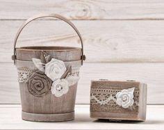 wedding ring baskets – Etsy