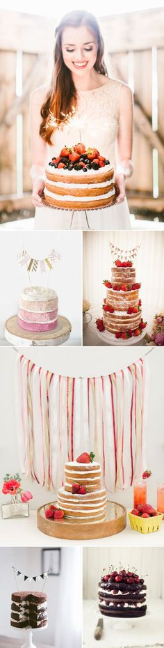 Naked Wedding Cakes with fresh fruits and/or creative toppers