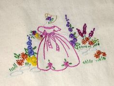 Crinoline Lady Embroidery by free style girl, via Flickr