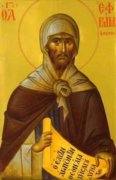 """""""June Saint Ephrem may Christ Jesus hear the prayers of persecuted Christians. We ask this in Jesus' holy name"""" Religious Images, Religious Icons, Religious Art, Byzantine Icons, Byzantine Art, Sainte Cecile, Catholic Online, Orthodox Christianity, Catholic Saints"""