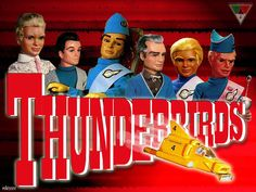 "Thunderbirds is a British science fiction television series first broadcast during 1965 and 1966 which was devised by Gerry and Sylvia Anderson and made by their company, AP Films, using a form of marionette puppetry dubbed ""Supermarionation"". Movies And Series, Tv Series, Science Fiction, Mejores Series Tv, Thunderbirds Are Go, Vintage Television, Film D'animation, Vintage Tv, Vintage Images"