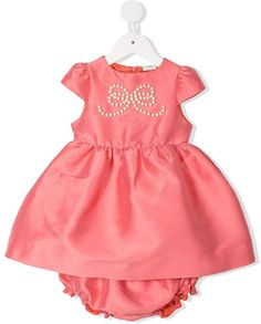 a4c497d11f27 Toddler Girls Contrast Lace Bow Front A-line Dress