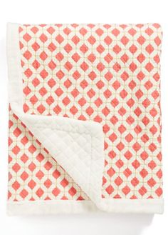 cute coral quilt