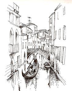 венеция рисунок карандашом - Поиск в Google