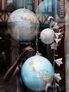 Wereldbol lampen.