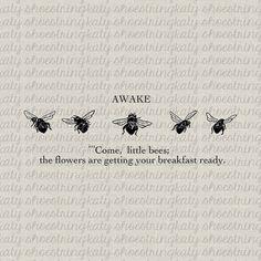 Digital Download Bee Bees Antique Book Verse by katyshoestring