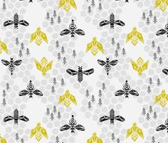 Honeycomb - Light Grey by Andrea Lauren fabric by andrea_lauren on Spoonflower - custom fabric
