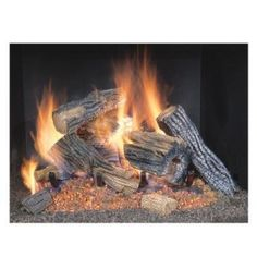 Word of caution, the first few burns smell awful but go away after a few burns. This log has a U-shaped dual burner that gives a very realistic dancing flame pattern.