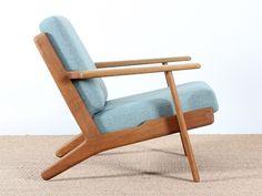 paire de fauteuils scandinaves modèle GE 390 de Hans Wegner pour Getama
