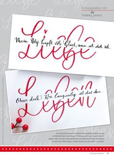Handlettering The magazine - the joy of writing Irish Wedding Rings There are a number of Irish Wedd Brush Lettering, Lettering Design, Abc Letra, Calligraphy Doodles, Karten Diy, Diy Crafts To Do, Vinyl Fabric, Penmanship, Handwriting