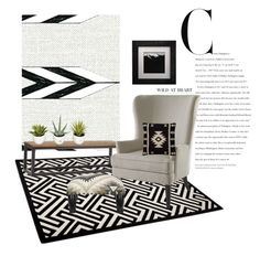"""""""Untitled #89"""" by designed-4-life ❤ liked on Polyvore featuring interior, interiors, interior design, home, home decor, interior decorating, Cavern, Zuo, Pier 1 Imports and Safavieh"""
