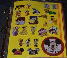 Disney pin binder. Just foam sheets & page protectors :)