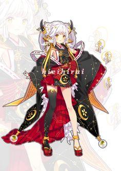 [CLOSED] Adopt auction - Monster Onmyouji by hieihirai.deviantart.com on @DeviantArt