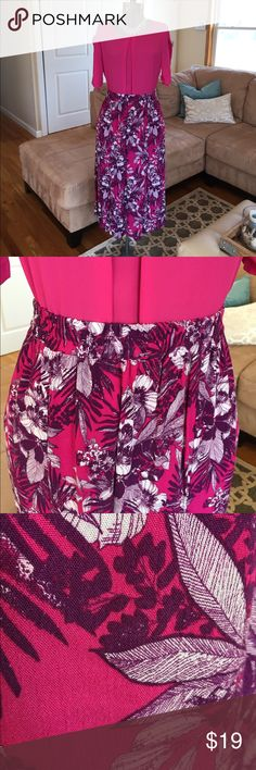 NWT 💥L & XL PINK/PURPLE SKIRT New with tags, Laura Scott royal pink and purple skirt! Light and comfortable,  perfect for the summer!  Size large and extra-large available! Skirts Midi