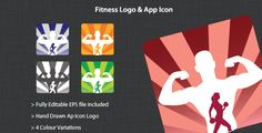 Fitness Logo & App Icon on App Icon, Fitness Logo, How To Draw Hands, Templates, Logos, Design, Stencils, Logo, Template