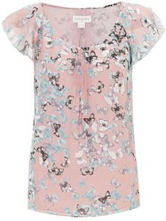 Savvy Chic, Canny Style: Terrific Top: Mia Butterfly Printed Top from @Abby Christine Pierre