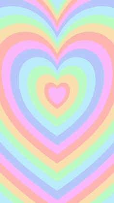 Phone wallpaper, background. 'muted pastel heart' (5)