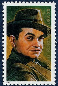 Edward G. Robinson stamp, Legends of Hollywood series, 2000.