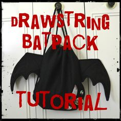 Cassie Christmas Gift? Drawstring Batpack - Gosh this would be adorable for creep cute!