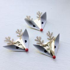 DIY paper reindeers : tutorial