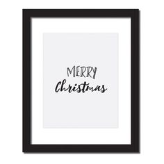 Inspirational quote print 'Merry Christmas'
