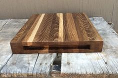 Edge Grain Cutting Board in Fumed Oak from thewoodenpalate.com