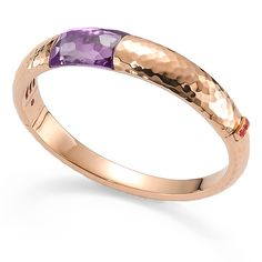 Beautiful Roberto Coin rose gold and amethyst bracelet