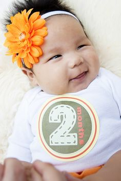 Milestone Stickers from Sticky Bellies for pregnancy and baby's first year.  I may be able to DIY something similar.