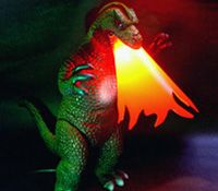 Godzilla lamp.