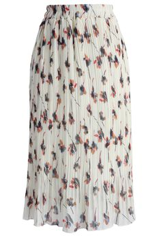 Spring Posies Pleated Chiffon Skirt - New Arrivals - Retro, Indie and Unique Fashion