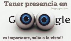 Presencia en buscadores (SEO) www.jasgapps.com La creatividad salta a la vista!