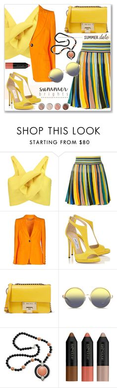 """""""Summer date"""" by jan31 ❤ liked on Polyvore featuring Delpozo, Missoni, Emilio Pucci, Jimmy Choo, Matthew Williamson, Kenneth Jay Lane and Terre Mère"""