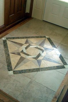 Custom Tile And Stone Inlay Medallions In Fort Collins, Colorado. Tile Floor  ...