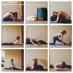 Yin Yoga: Kidney Meridian Lines