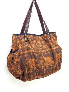 Women bag Handbags Thai Cotton bag Elephant bag Hippie bag Hobo bag Boho bag  Shoulder bag Tote bag D 546f736273ea4