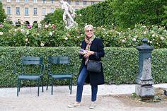 In the Palais Royal gardens in Paris. Details at une femme d'un certain age.