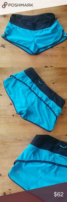 Lululemon Speed Shorts Size 6. Bright blue. Good condition. From non-smoking home. lululemon athletica Shorts