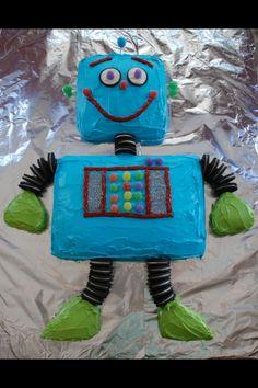 Robot+Cake+Ideas   Robot birthday cake for Finn. 2011   Party Ideas
