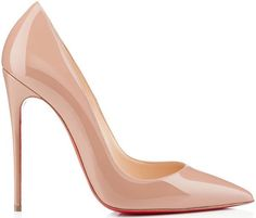 Christian Louboutin 'So Kate' Nude Patent Leather Pumps Spring 2014 #CL #Louboutins #Shoes