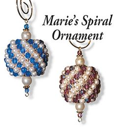 New Marie's Spiral Beaded Ornament Pattern by Rita Sova at Bead-Patterns.com