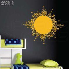 CURLY SUN Vinyl art