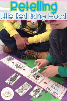 Retelling activities for Little Red Riding Hood! Perfect for kindergarten!