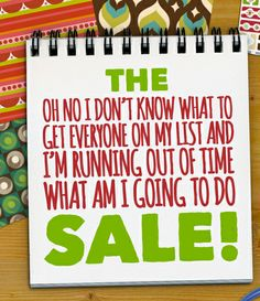 The Running-Out-of-Time Sale!