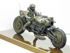 """Cheetah"" 1/20 scale. By Waki. Ma.K. original. #motorcycle #Ma_K #Maschinen_Krieger #Sci_Fi"