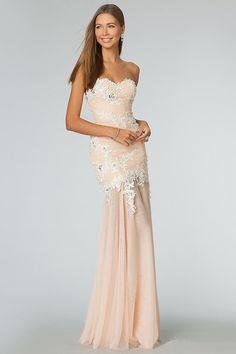 Sweetheart Mermaid Prom Dresses Floor Length Ruffled Bodice With Rhinestone&Applique USD 159.99 TSPPBJLT7YY - StylishPromDress.com